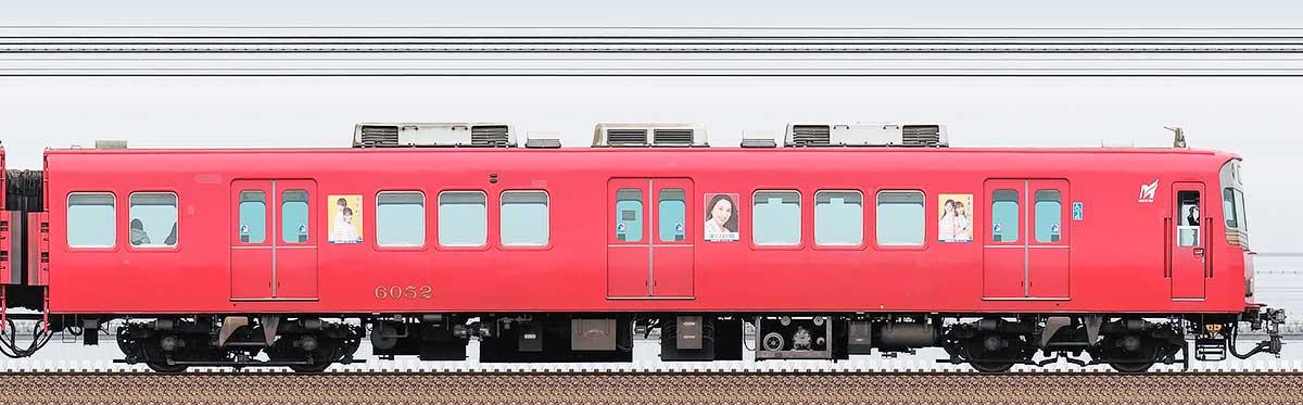 名鉄6000系(10次車)ク6052海側の側面写真