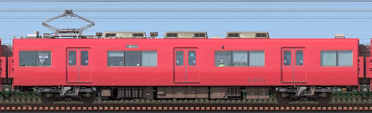 名鉄6500系(6次車)モ6470山側の側面写真