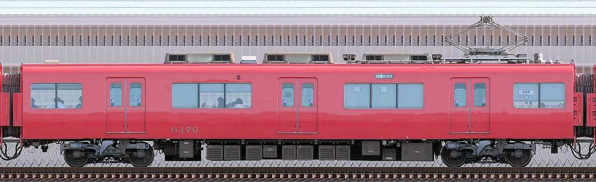 名鉄6500系(6次車)モ6470海側の側面写真