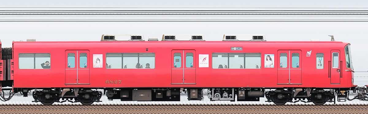 名古屋鉄道6800系(4次車)ク6827海側の側面写真