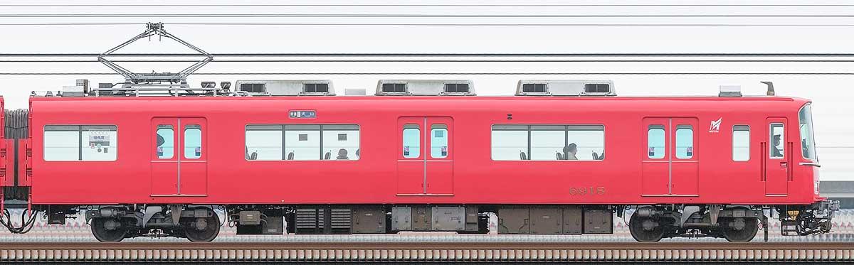 名古屋鉄道6800系(3次車)モ6918山側の側面写真