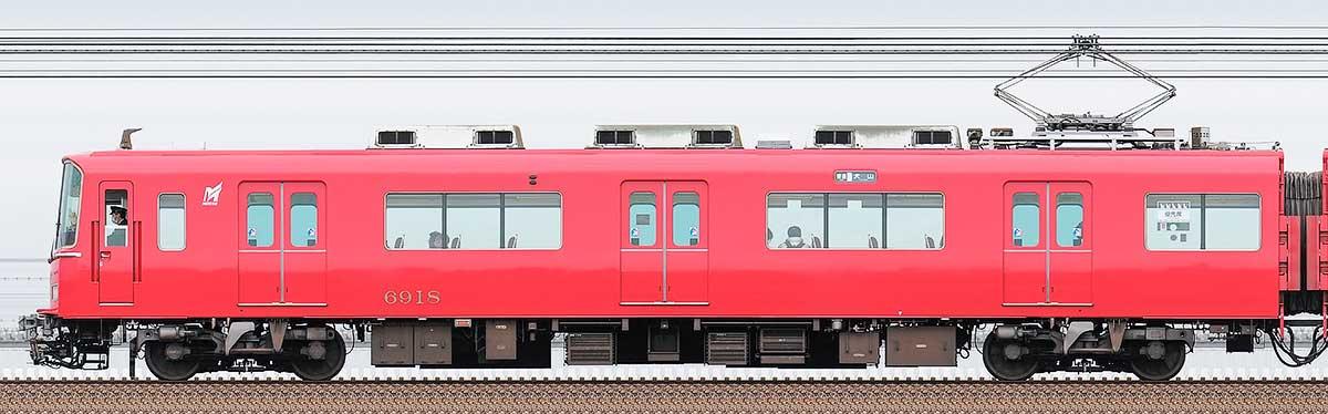 名古屋鉄道6800系(3次車)モ6918海側の側面写真