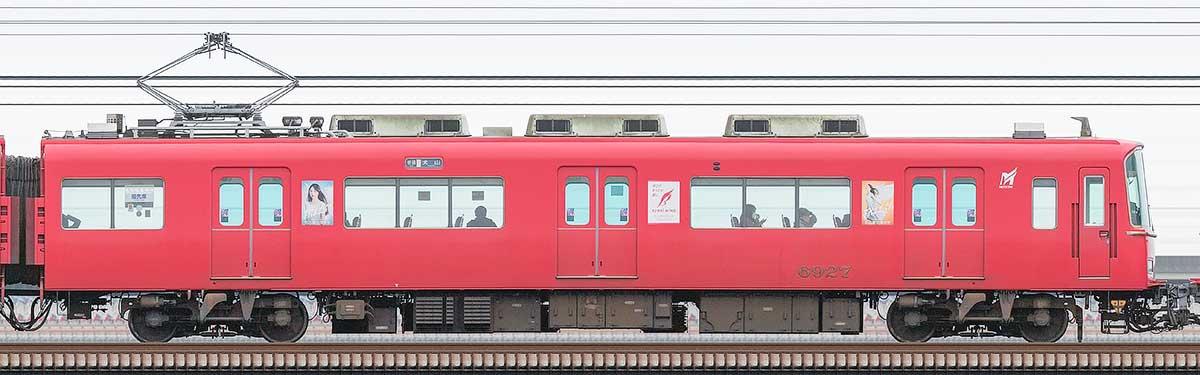 名古屋鉄道6800系(4次車)モ6927山側の側面写真