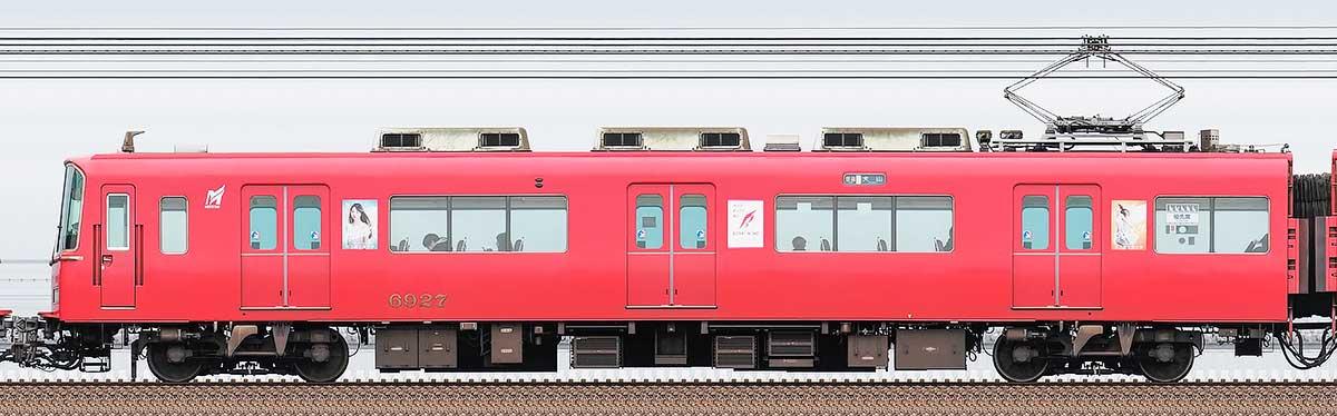 名古屋鉄道6800系(4次車)モ6927海側の側面写真