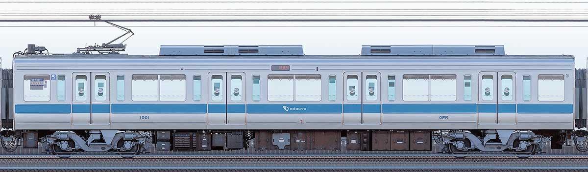 小田急1000形デハ1001海側の側面写真