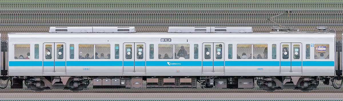 小田急1000形デハ1031山側の側面写真