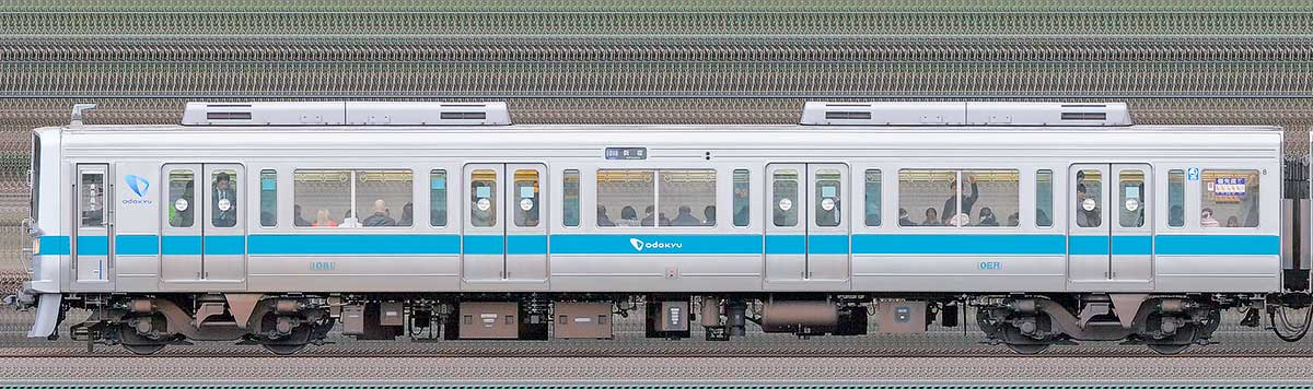 小田急1000形クハ1081山側の側面写真