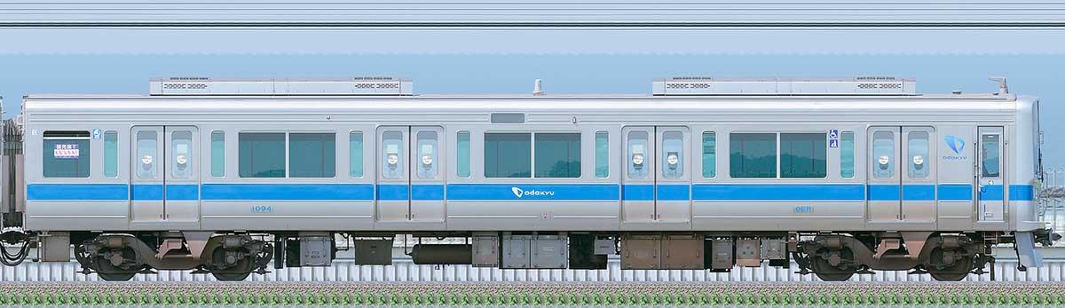 小田急1000形クハ1094(リニューアル車)海側の側面写真