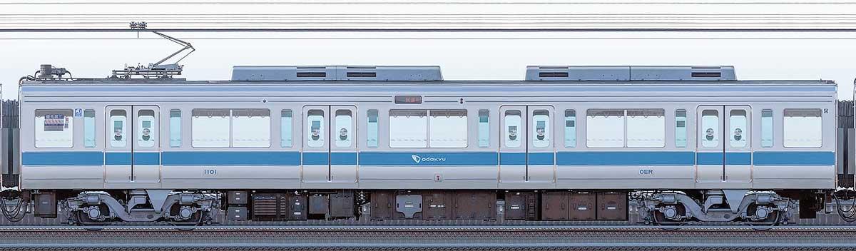 小田急1000形デハ1101海側の側面写真