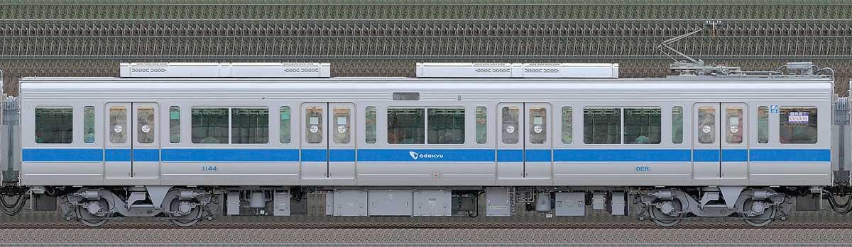 小田急1000形デハ1144(リニューアル車)山側の側面写真