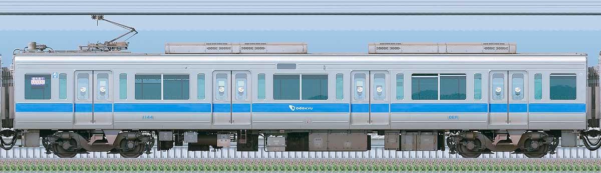 小田急1000形デハ1144(リニューアル車)海側の側面写真