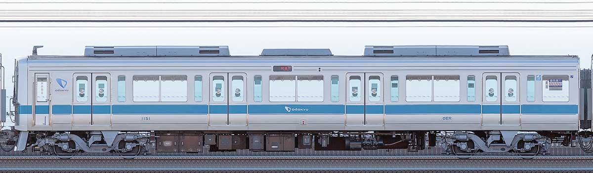 小田急1000形クハ1151海側の側面写真