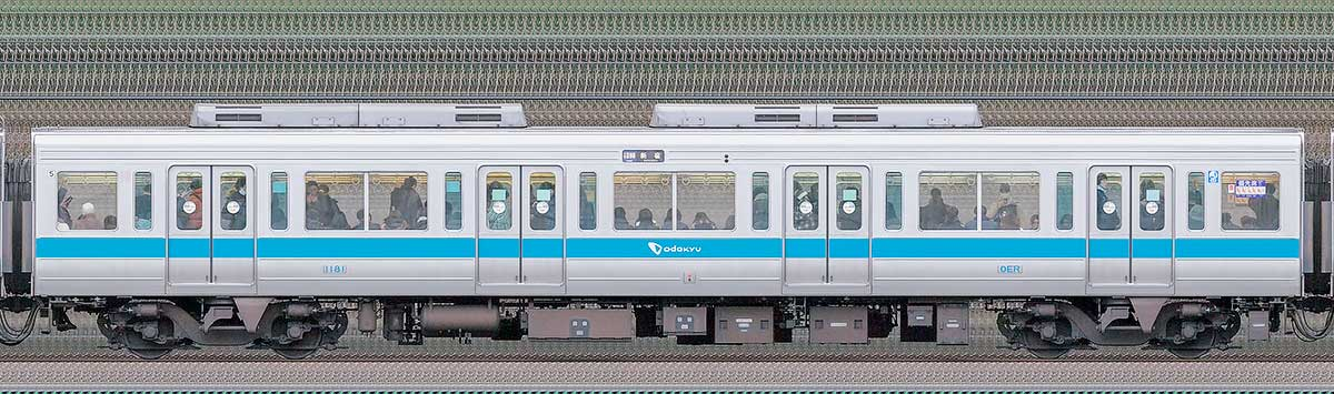 小田急1000形サハ1181山側の側面写真