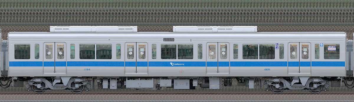 小田急1000形サハ1194(リニューアル車)山側の側面写真