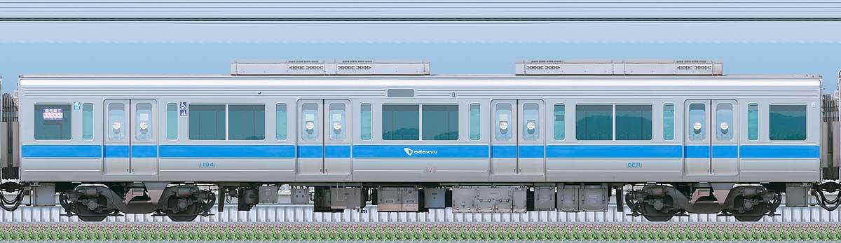 小田急1000形サハ1194(リニューアル車)海側の側面写真
