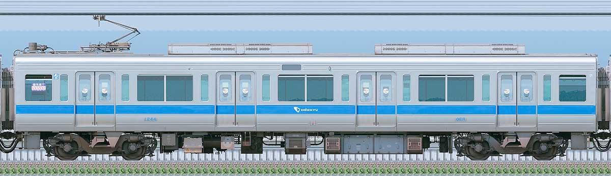 小田急1000形デハ1244(リニューアル車)海側の側面写真