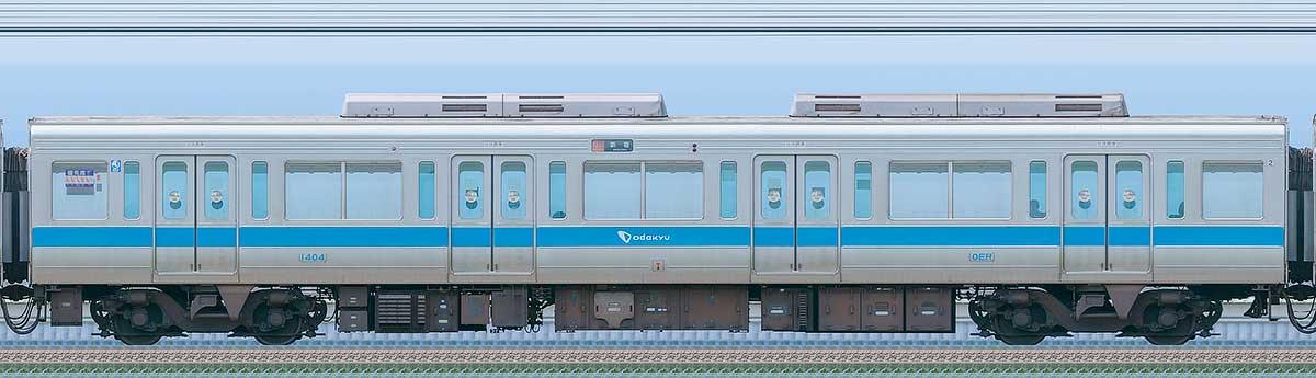 小田急1000形デハ1404海側の側面写真