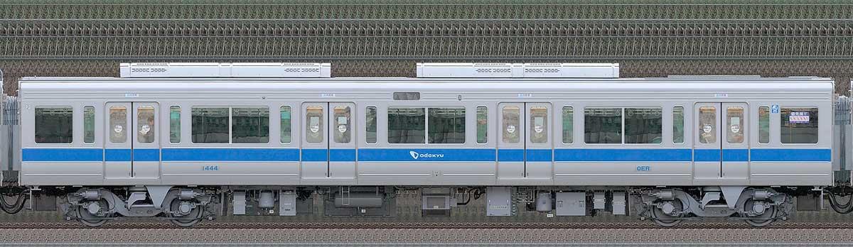 小田急1000形デハ1444(リニューアル車)山側の側面写真