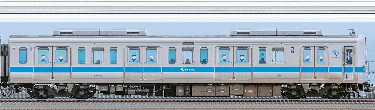 小田急1000形クハ1754海側の側面写真