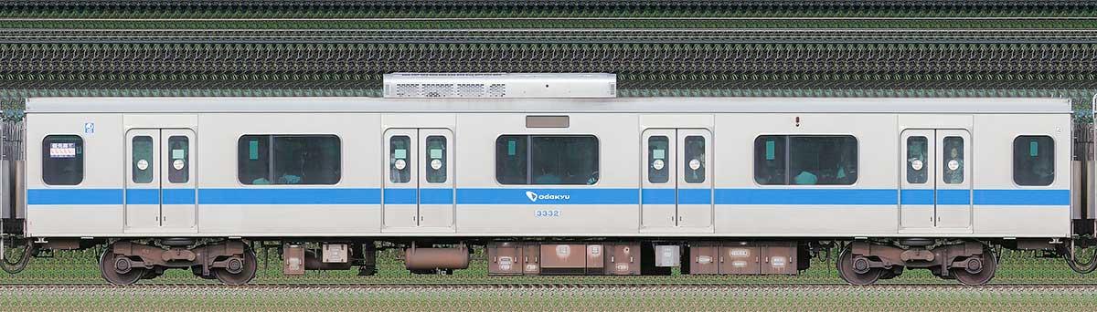 小田急3000形デハ3332海側の側面写真