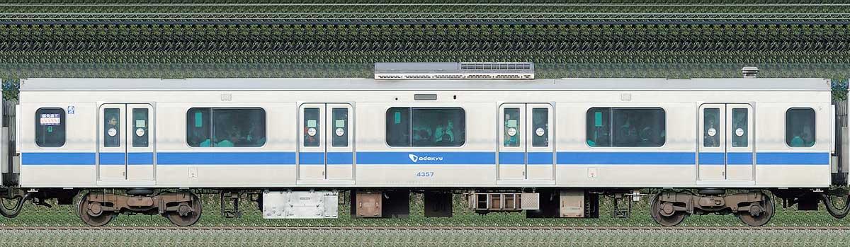 小田急4000形サハ4357海側の側面写真