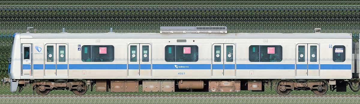 小田急4000形クハ4557海側の側面写真