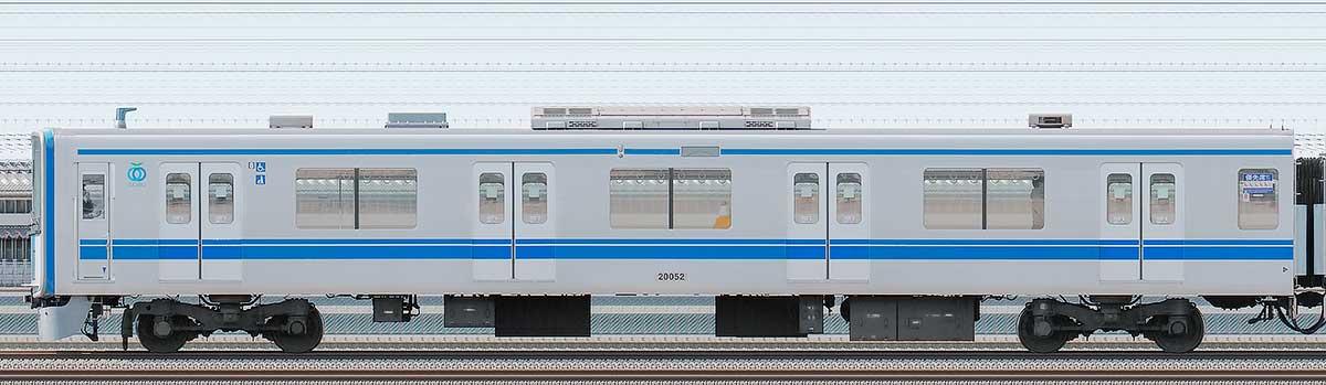 西武20000系クハ200522位側の側面写真