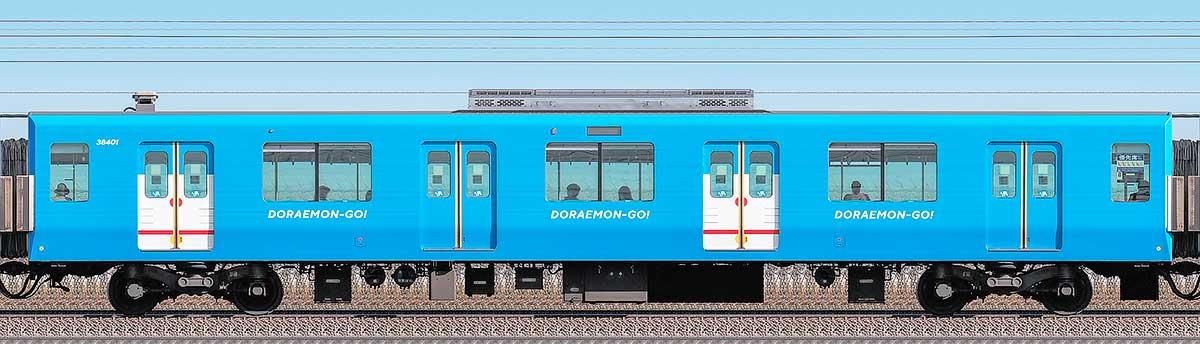 西武30000系「DORAEMON-GO!」サハ384012位側の側面写真