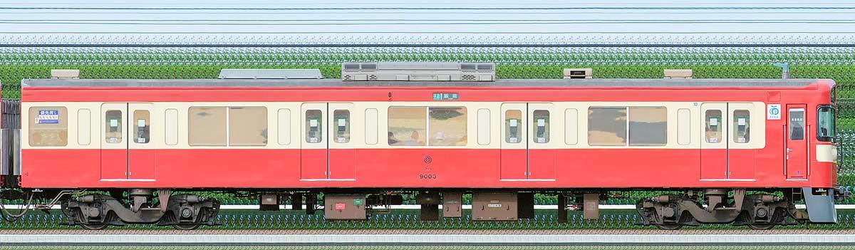 西武9000系「RED LUCKY TRAIN」クハ90031位側の側面写真