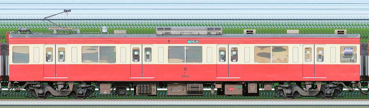 西武9000系「RED LUCKY TRAIN」モハ95031位側の側面写真
