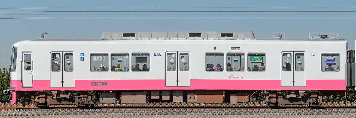 新京成8800形クハ8801-1山側の側面写真