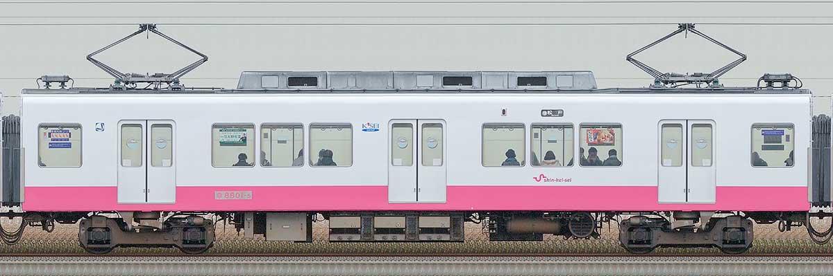 新京成8800形モハ8801-5海側の側面写真