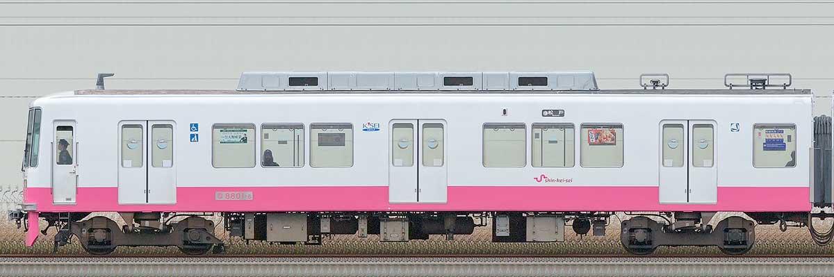 新京成8800形クハ8801-6海側の側面写真
