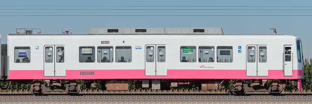 新京成8800形クハ8801-6山側の側面写真