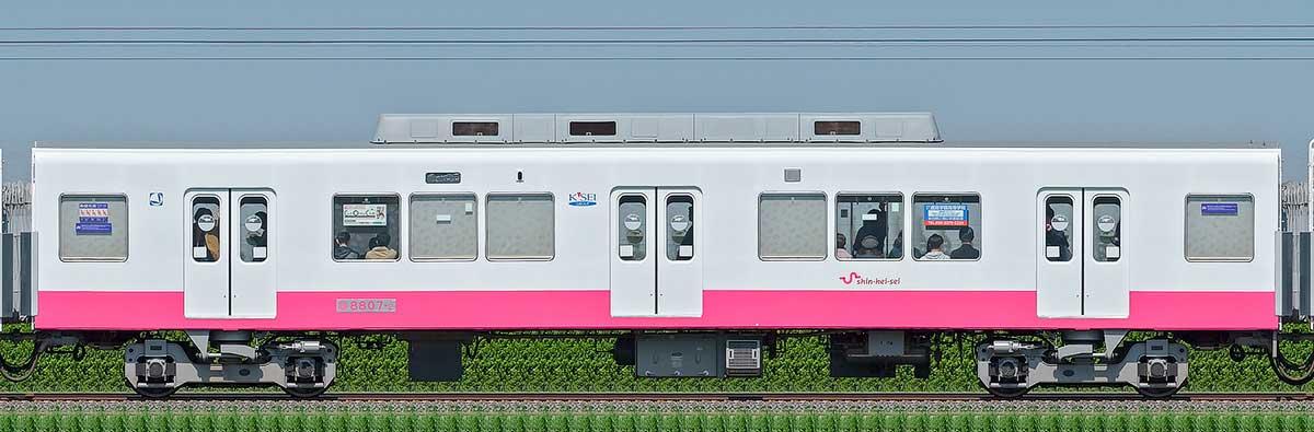 新京成8800形モハ8807-2(床下機器更新・内装リニューアル車)山側の側面写真