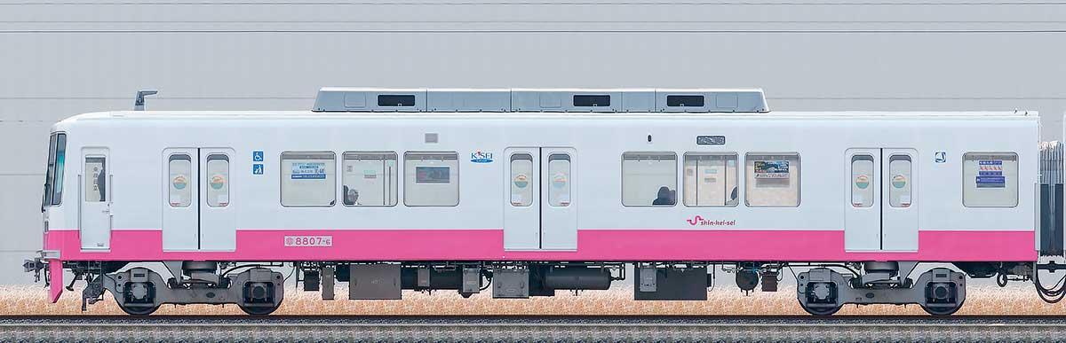 新京成8800形クハ8807-6(床下機器更新・内装リニューアル車)海側の側面写真