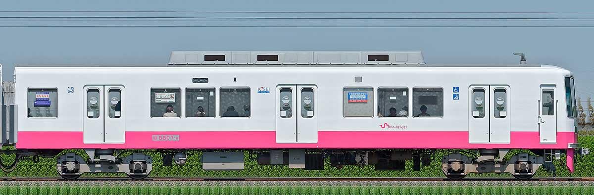 新京成8800形クハ8807-6(床下機器更新・内装リニューアル車)山側の側面写真