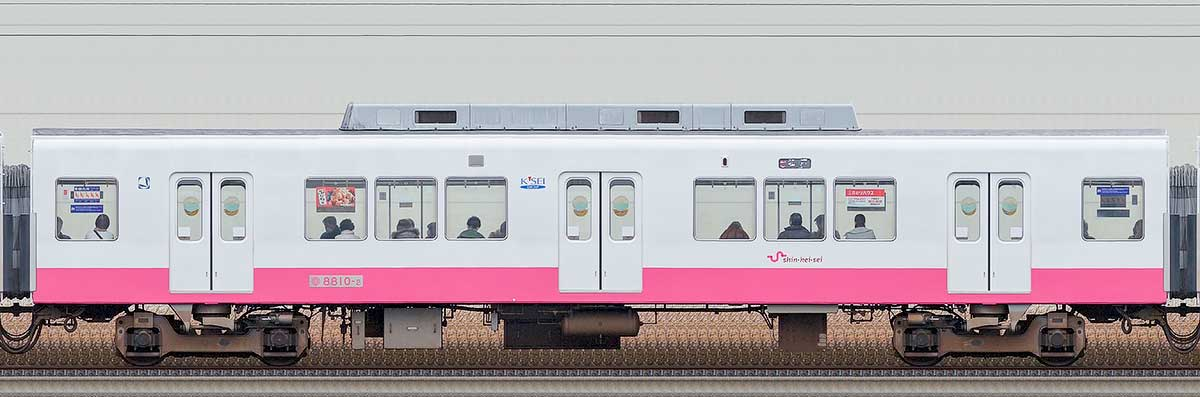 新京成8800形モハ8810-2(床下機器更新・内装リニューアル車)海側の側面写真