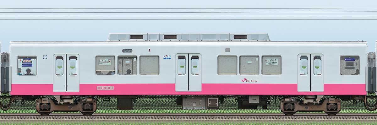 新京成8800形モハ8810-2(床下機器更新・内装リニューアル車)山側の側面写真