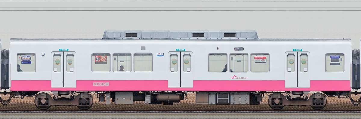 新京成8800形サハ8810-4(床下機器更新・内装リニューアル車)海側の側面写真