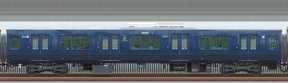 相鉄12000系モハ12201山側の側面写真