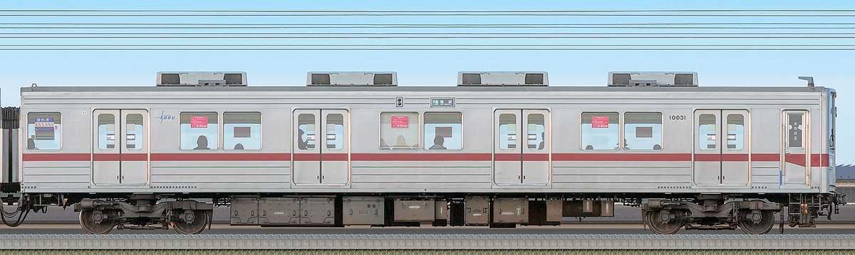 東武10030型クハ10031海側の側面写真