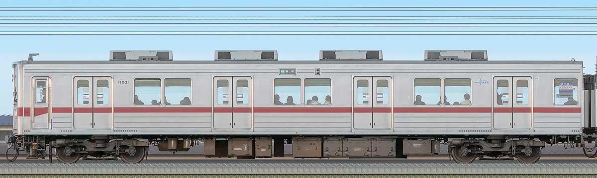 東武10030型クハ11031海側の側面写真