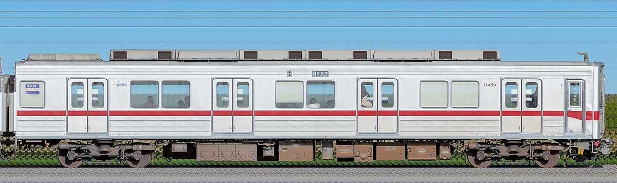 東武10030型クハ11459山側の側面写真
