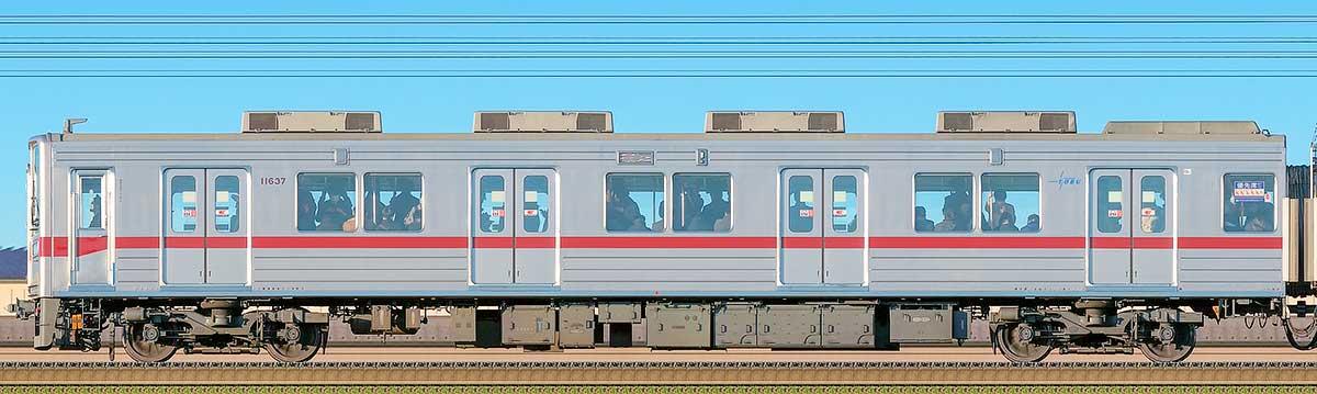 東武10030型クハ11637(リニューアル車)海側の側面写真