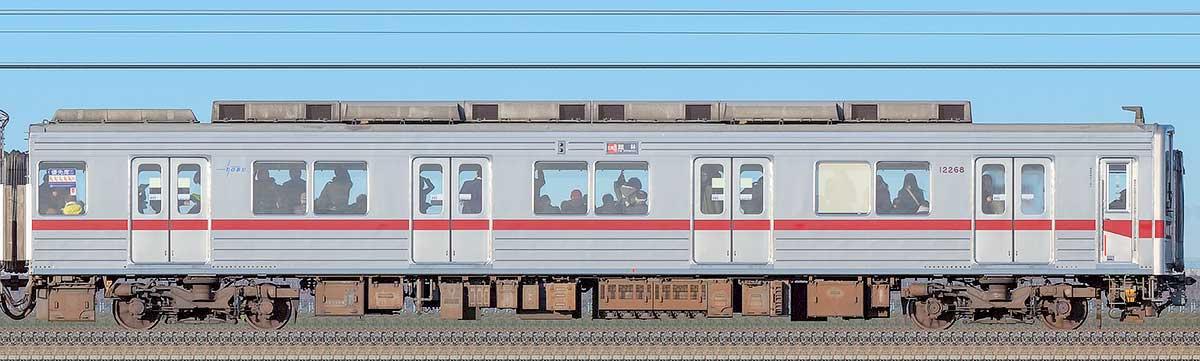 東武10030型クハ12268海側の側面写真