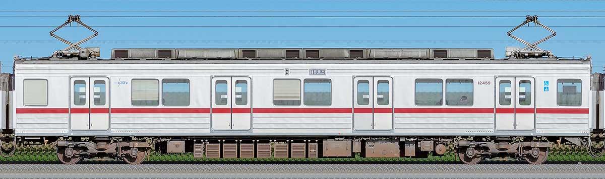 東武10030型モハ12459山側の側面写真