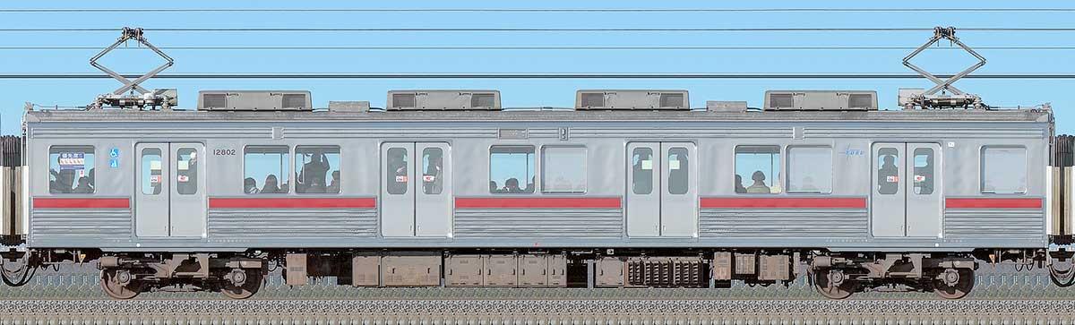 東武10000型モハ12802(リニューアル車)海側の側面写真