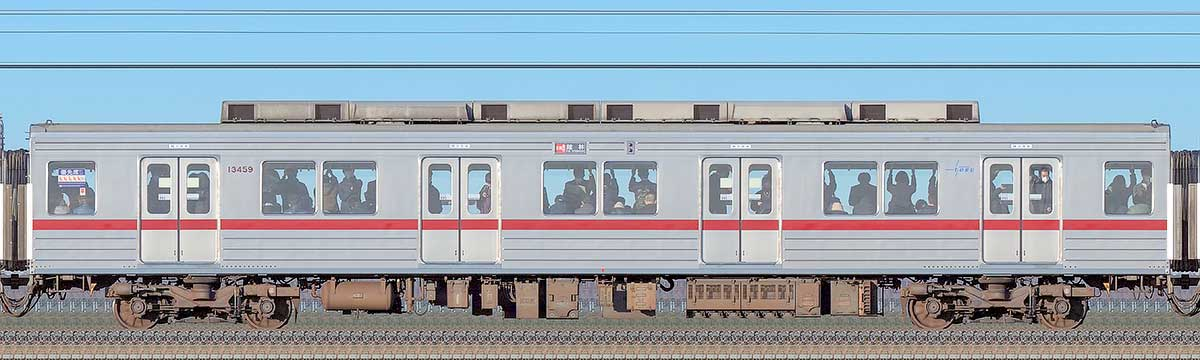 東武10030型モハ13459海側の側面写真