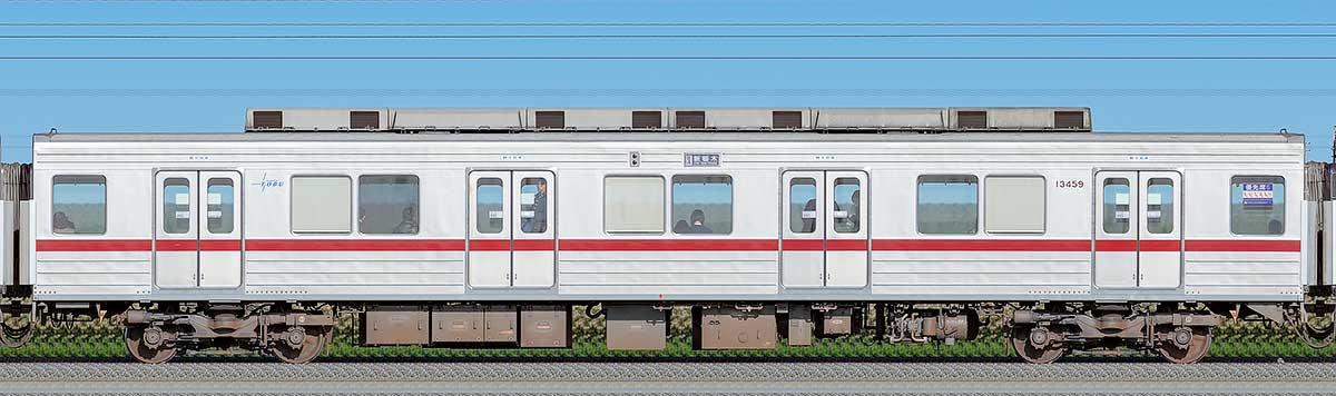 東武10030型モハ13459山側の側面写真